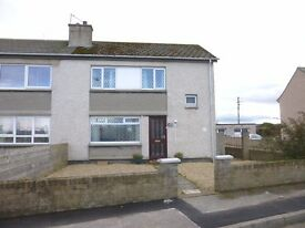 3 Bedroom house to let, Portgordon, Buckie. Garage, shed, driveway, low maint gardens front/rear.