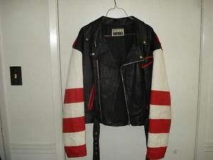 Canadian Flag Leather Coat-Womans