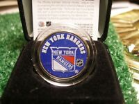 Colourized New York Rangers Coin