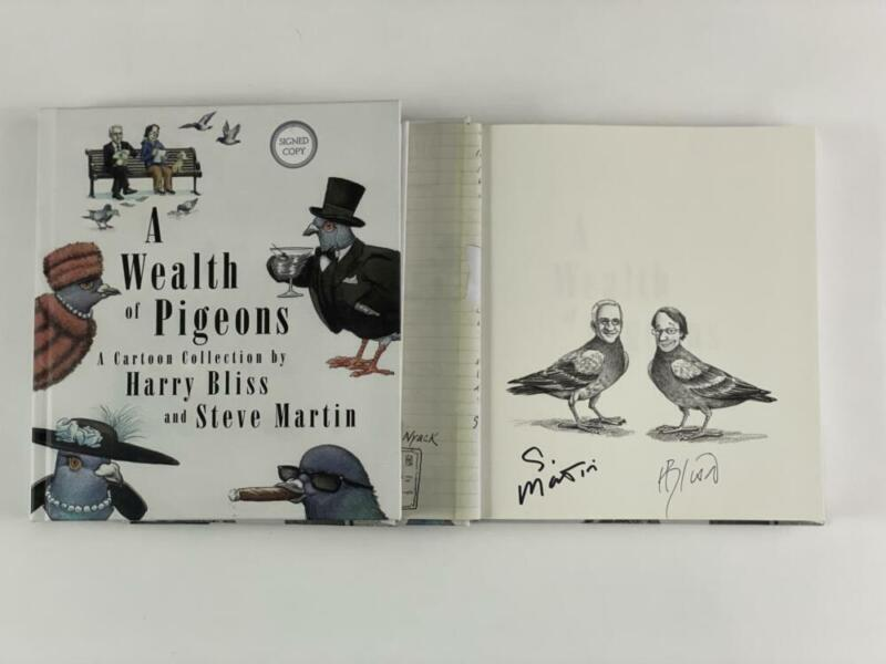 """STEVE MARTIN SIGNED AUTOGRAPH """"A WEALTH OF PIGEONS"""" BOOK - SATURDAY NIGHT LIVE"""