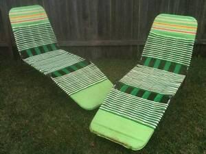Vintage Retro Banana Lounge Chairs $40ea Bexley Rockdale Area Preview