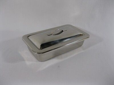 Instrument Catheter Tray Stainless Steel With Lid - 9-14 X 5 X 2