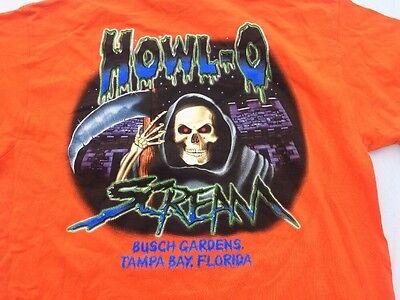 Halloween Howl O Scream Bush Gardens Florida, Graphic Tee STAFF SHIRT L Cotton