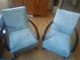 Restored chairs design by Jindrich Halabala