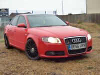 AUDI A4 TDI S LINE SPECIAL EDITION 170 BHP (red) 2007