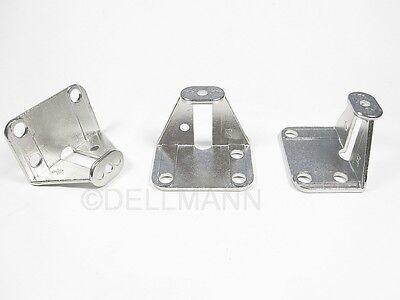 2 Adapter für Falttürengriffe / Griffadapter für Faltschiebetüren h=25 mm