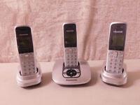 Panasonic Digital Cordless Phone With Answering Machine TRIO