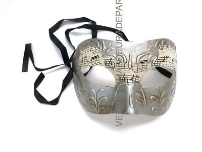 Black Silver music masquerade eye mask men boys Halloween costume New Year Party](Music Halloween Costumes)