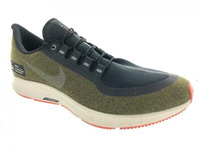 Men's Nike Air Zoom Pegasus 35 Shield Running Shoes AA1643-300 Olive Flak Size 1