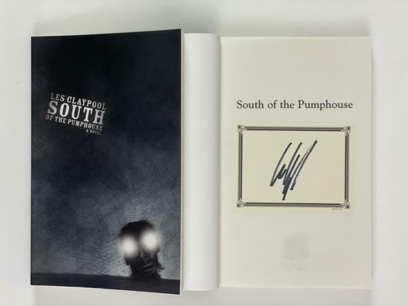"""LES CLAYPOOL PRIMUS SIGNED AUTOGRAPH """"SOUTH OF THE PUMPHOUSE"""" BOOK - VERY RARE!"""