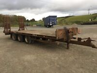 CHIEFTAN 23.5 TON TRI AXLE BEAVER TAIL LOW LOADER