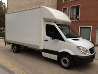 Convenient Removals Service Man With BIG Luton Van Hire Tail Lift - Free Loading & Unloading Help