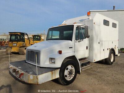 2000 Freightliner Fl70 Utility Service Truck Altec Cat Diesel Winch At Bidadoo