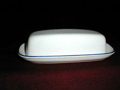 Nitto China Meadow Stone Blue Rim 1 4 Lb Butter Dish