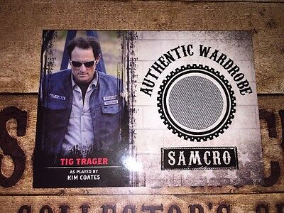 Sons Of Anarchy Authentic Wardrobe Worn Piece Card Of Tig Trager
