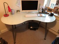 Ikea Kidney shaped desk- adjustable height