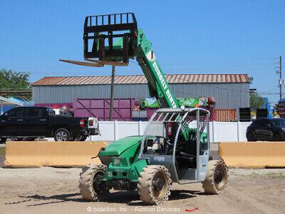 2014 Genie Gth5519 19 5500 Lbs Telescopic Reach Forklift Telehandler Bidadoo