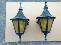 Outdoor black cast iron light fixtures - solid construction