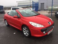 PEUGEOT 307 ALLURE COUPE CABRIOLET (red) 2008