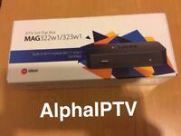 Mag 322 + 12 Months IPTV Subscription