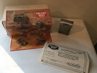 ARCADE TOYS U.S. MAILBOX BANK PEWTER REPLICA WITH CLEAN BOX, COA, BROCHURE