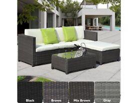 **FREE & FAST UK DELIVERY** Luxury Rattan Outdoor Garden Conservatory Corner Sofa