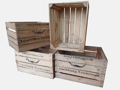 4 Stück gebrauchte Holzkisten - Weinkisten -Obstkisten Lynchburg Tennessee