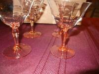 STEMWARE SET OF 4 IN AMBER COLOUR