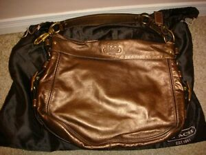 Authentic Coach bag - boutique large copper zoe Kitchener / Waterloo Kitchener Area image 1
