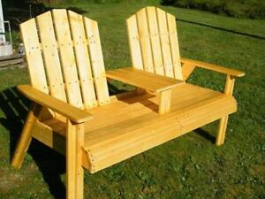 Wooden chairs wooden benches for Outdoor furniture kelowna