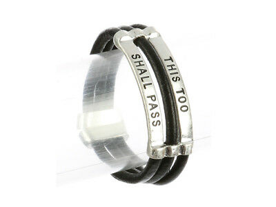 This Too Shall Pass Three Strand Faux Rubber Message Bracelet ~ Gift Idea! ()