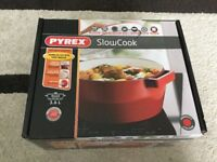 NEW Pyrex Slow Cook 4936877 Casserole Pan Round 3.6 L Cast Stainless-Steel Red