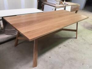 Local Made Solid American Oak Alice Dining Table Dining Tables