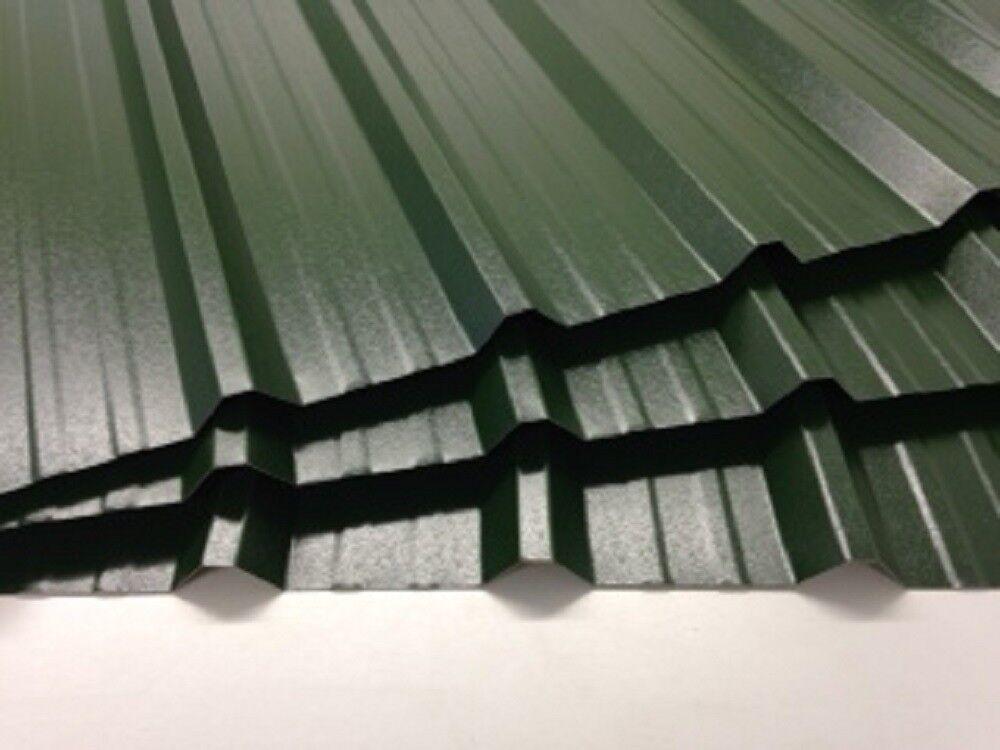 Box Profile Roofing Sheets Juniper Green Plastic Coated X