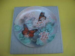 1988 MONARCH BUTTERFLIES LENA LIU COLLECTORS PLATE