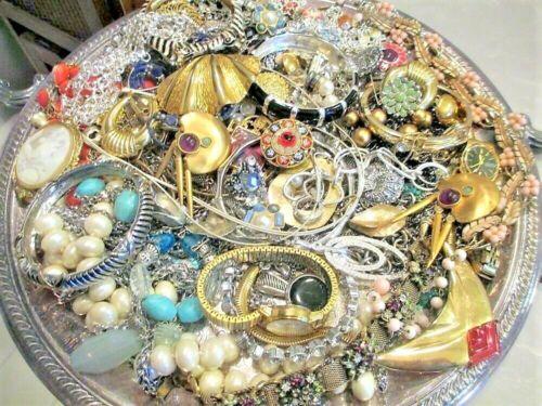 Unsearched Jewelry Vintage Modern Lot Wear Junk Craft Box 2 - 3 Pounds HUGE SALE