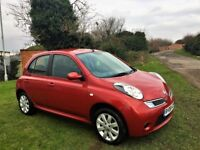 NISSAN MICRA 1.2 Acenta Plus, Full Main Dealer Service History (red) 2008
