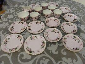 Colclough/Ridgway tea service - wild rose pattern