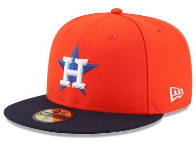 - New Era Houston Astros ALT 59Fifty Fitted Hat (Orange) MLB Cap
