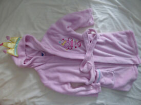 Princess Peppa Pig dressing gowns/robes for 3-4, 4-5 and 5-6 years in very good condition.
