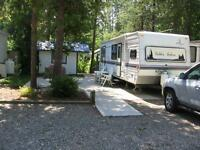 Shuswap Lake - Scotch Creek BC - Caravans West RV Resort Lot 18