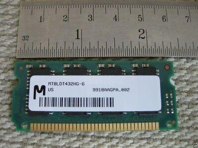 16MB EDO 72-pin 60ns 3.3v SODIMM MT8LDT432HG-6X Micron