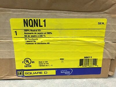 Square D Nqnl1 Nq Panelboard Neutral Kit 100 Amp 200 Neutral New