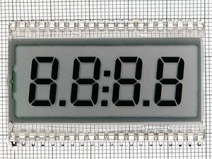 LCD DISPLAY 4-DIGITS 7-SEGMENT GLASS  (4 PCS)