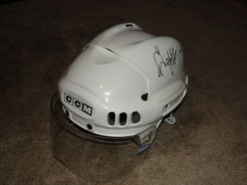 Sergei Gonchar  Signed Game Used Helmet, Capitals, Penguins !!