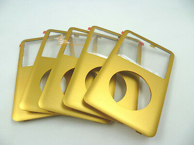 Gold Golden Front Faceplate Housing Case Cover for iPod 6th Classic 80GB 160GB