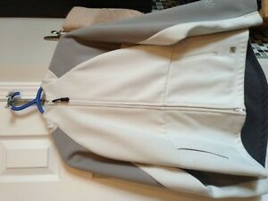 WHITE & GREY FALL WOMANS JACKET FOR SALE