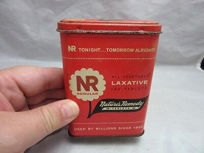 Vtg NR All vegetable Laxative tablets tin. Nature's Remedy