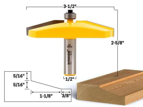 Yonico 12134q Panel Raiser Router Bit with Ogee 1-Inch Depth 1//4-Inch Shank