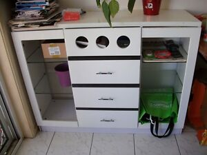 White MODERN TV Cabinet or Side Cabinet Good Condition Eight Mile Plains Brisbane South West Preview